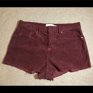 Kendall and Kylie corduroy shorts size 28